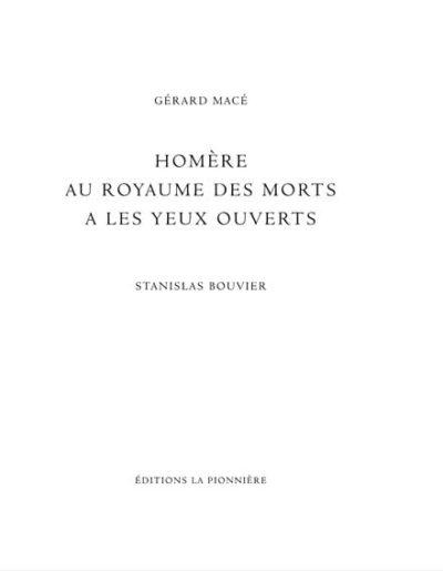 Homère - Gérard macé et Stanislas bouvier
