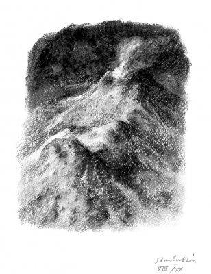 Homère au royaume des morts a les yeux ouverts, avec estampe, Gérard Macé, S. Bouvier