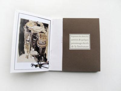Répertoire des domiciles parisiens de quelques personnages fictifs de la littérature de Didier Blonde – Tirage de tête