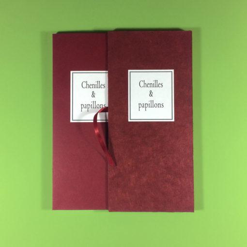 chenilleChenilles & papillons de Gérard Macé (2017) Tirage de tête limité à 25 exemplaires numérotés et signés par l'auteur, accompagnés d'une photographie originale numérotée et signée Format : 13 x 27 cm : 220 €s-et-papillons-tirage de tete-01